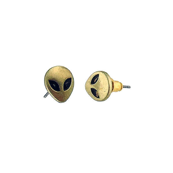 Shop LAVISHY's unique, beautiful & affordable retro style grey alien stud earrings. A great gift for you or your girlfriend, wife, co-worker, friend & family. Wholesale available at www.lavishy.com with many unique & fun fashion accessories.