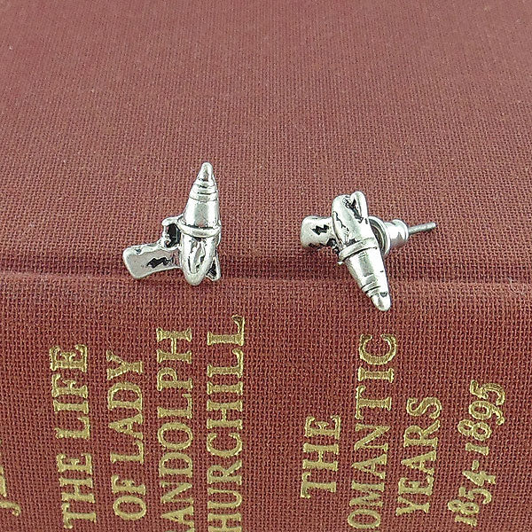 Shop LAVISHY's unique, beautiful & affordable retro style scifi laser gun stud earrings. A great gift for you or your girlfriend, wife, co-worker, friend & family. Wholesale available at www.lavishy.com with many unique & fun fashion accessories.