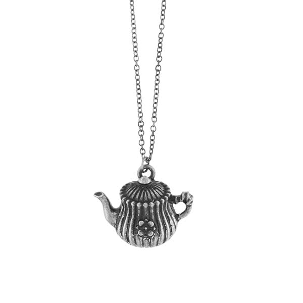 Shop LAVISHY's unique, beautiful & affordable vintage look retro style English tea pot necklace. It's fun to wear everyday also make great gift for your family & friends. Wholesale at www.lavishy.com with many unique & fun fashion accessories to gift shop, clothing & fashion accessories boutique, book store since 2001.