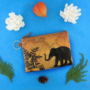 Online Online shopping for LAVISHYping for vegan brand LAVISHY's unisex key ring coin purse with vintage style elephant illustration on the old map background print. Great for everyday use, travel & gift for friends & family. Wholesale at www.lavishy.com for gift Online shopping for LAVISHYs, fashion accessories & clothing boutiques, book stores worldwide since 2001.