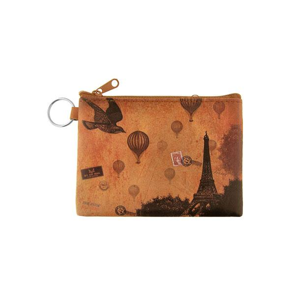 Online Online shopping for LAVISHYping for vegan brand LAVISHY's unisex key ring coin purse with vintage style Paris Eilffel Tower illustration on the old map background print. Great for everyday use, travel & gift for friends & family. Wholesale at www.lavishy.com for gift Online shopping for LAVISHYs, fashion accessories & clothing boutiques, book stores worldwide since 2001.
