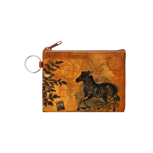 Online Online shopping for LAVISHYping for vegan brand LAVISHY's unisex key ring coin purse with vintage style zebra illustration on the old map background print. Great for everyday use, travel & gift for friends & family. Wholesale at www.lavishy.com for gift Online shopping for LAVISHYs, fashion accessories & clothing boutiques, book stores worldwide since 2001.