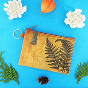 Online Online shopping for LAVISHYping for vegan brand LAVISHY's unisex key ring coin purse with vintage style fern illustration on the old map background print. Great for everyday use, travel & gift for friends & family. Wholesale at www.lavishy.com for gift Online shopping for LAVISHYs, fashion accessories & clothing boutiques, book stores worldwide since 2001.