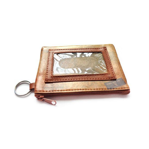 Online shopping for LAVISHYping for vegan brand LAVISHY's unisex key ring coin purse with vintage style dragonfly illustration on the old map background print. Great for everyday use, travel & gift for friends & family. Wholesale at www.lavishy.com for gift Online shopping for LAVISHYs, fashion accessories & clothing boutiques, book stores worldwide since 2001.