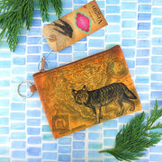 Online Online shopping for LAVISHYping for vegan brand LAVISHY's unisex key ring coin purse with vintage style wolf illustration on the old map background print. Great for everyday use, travel & gift for friends & family. Wholesale at www.lavishy.com for gift Online shopping for LAVISHYs, fashion accessories & clothing boutiques, book stores worldwide since 2001.