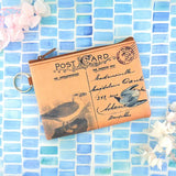 Online shopping for LAVISHYping for vegan brand LAVISHY's unisex key ring coin purse with vintage style seabird illustration on the old map background print. Great for everyday use, travel & gift for friends & family. Wholesale at www.lavishy.com for gift Online shopping for LAVISHYs, fashion accessories & clothing boutiques, book stores worldwide since 2001.