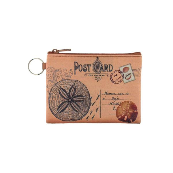 Online Online shopping for LAVISHYping for vegan brand LAVISHY's unisex key ring coin purse with vintage style sand dollar illustration on the old map background print. Great for everyday use, travel & gift for friends & family. Wholesale at www.lavishy.com for gift Online shopping for LAVISHYs, fashion accessories & clothing boutiques, book stores worldwide since 2001.
