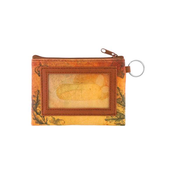 Online shopping for vegan brand LAVISHY's unisex key ring coin purse with vintage style fern illustration on the old map background print. Great for everyday use, travel & gift for friends & family. Wholesale at www.lavishy.com for gift shops, fashion accessories & clothing boutiques, book stores worldwide since 2001.