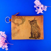 Online Online shopping for LAVISHYping for vegan brand LAVISHY's unisex key ring coin purse with vintage style cat illustration on the old map background print. Great for everyday use, travel & gift for friends & family. Wholesale at www.lavishy.com for gift Online shopping for LAVISHYs, fashion accessories & clothing boutiques, book stores worldwide since 2001.
