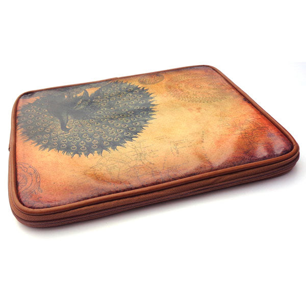 Shop vegan brand LAVISHY's unisex printed vegan/faux leather tablet sleeve with vintage style swallow print. Great for everyday use, travel and a great gift for yourself or your loved ones. Wholesale available at www.lavishy.com with many unique & fun fashion accessories.