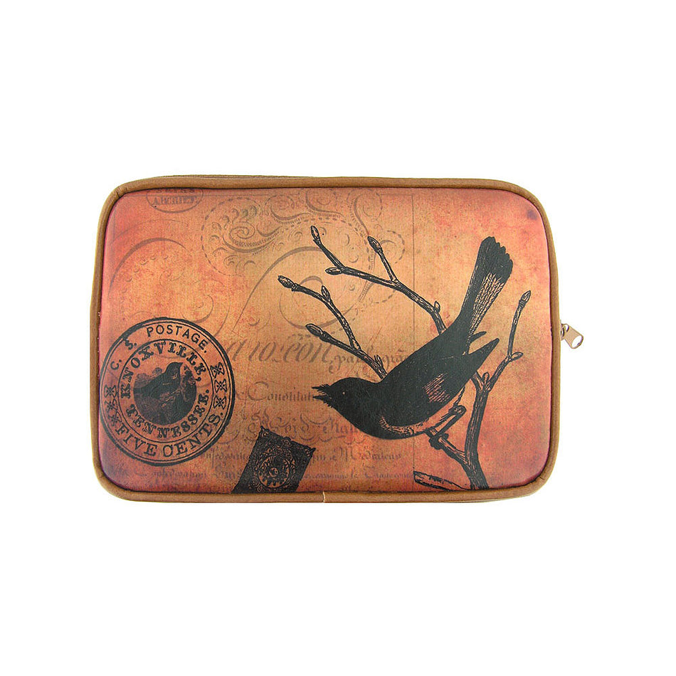 Shop vegan brand LAVISHY's cool vegan/faux leather eReader sleeve with vintage style swallow bird print. It's a great gift idea for you or your friends, co-worker & family. Wholesale available at www.lavishy.com