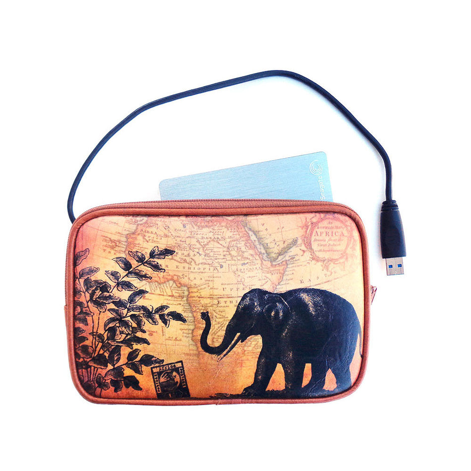 Shop vegan brand LAVISHY's cool vegan/faux leather eReader sleeve with vintage style swallow elephant & deer print. It's a great gift idea for you or your friends, co-worker & family. Wholesale available at www.lavishy.com