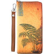 Online Online shopping for LAVISHYping for vegan brand LAVISHY's cool wristlet large wallet with vintage style fern illustration on old Kraft paper background print. Great for everyday use & travel. A cool gift for family & friends. Wholesale at www.lavishy.com for gift Online shopping for LAVISHY, fashion accessories & clothing boutique, book store since 2001.