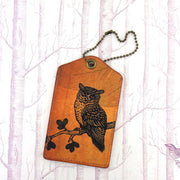 8-407: Owl vegan luggage tag