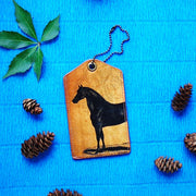 8-408: Horse vegan luggage tag