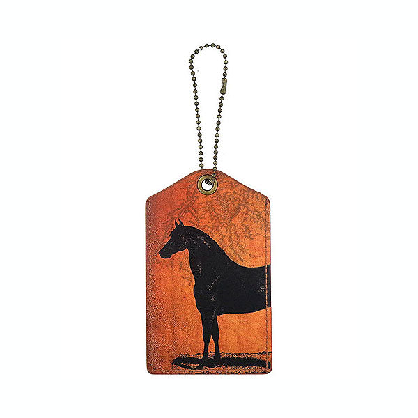 Online shopping for LAVISHY cool unisex vegan leather luggage tag with vintage style horse print. It's a great gift idea for you or your friends, co-worker & family. Wholesale available at www.lavishy.com to gift shops, fashion accessories & clothing boutiques in Canada, USA & worldwide.