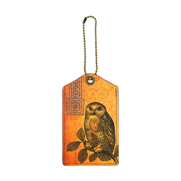 Shop PETA approved vegan brand LAVISHY's cool unisex vegan/faux leather  luggage tag with vintage style owl print. It's a great gift idea for you or your friends, co-worker & family. Wholesale available at www.lavishy.com