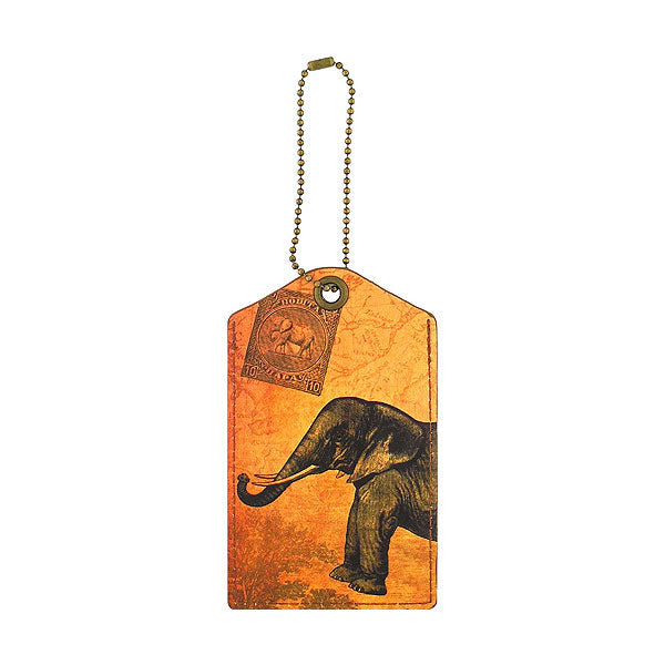 Shop vegan brand LAVISHY's cool unisex vegan/faux leather  luggage tag with vintage style elephant print. It's a great gift idea for you or your friends, co-worker & family. Wholesale available at www.lavishy.com