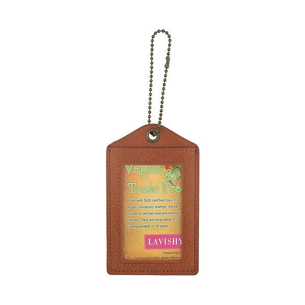Shop vegan brand LAVISHY's cool unisex vegan/faux leather  luggage tag with vintage style cardinal print. It's a great gift idea for you or your friends, co-worker & family. Wholesale available at www.lavishy.com