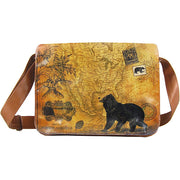 Shop PETA approved vegan brand LAVISHY's unisex vegan leather large messenger/laptop bag with vintage style bear print. A great gift idea for family & friends. More fun products for wholesale at www.lavishy.com for gift shops, fashion accessories & clothing boutiques in Canada, USA & worldwide.
