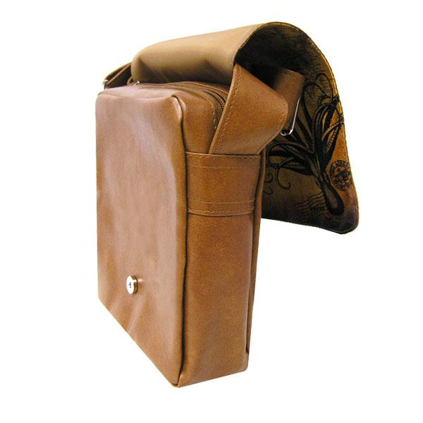 Shop vegan brand LAVISHY's unisex vegan leather medium messenger/laptop bag with vintage style moose print. A great gift idea for family & friends. More fun products for wholesale at www.lavishy.com for gift shops, fashion accessories & clothing boutiques in Canada, USA & worldwide.