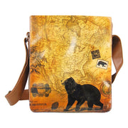 Online Online shopping for LAVISHYping for LAVISHY bear print unisex vegan medium messenger bag