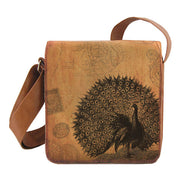 Online shopping for LAVISHY vegan brand LAVISHY's cool unisex vegan/faux leather small messenger/travel bag with vintage style peacock print. It's a great gift idea for you or your friends, co-worker & family. Wholesale available at www.lavishy.com with unique & fun vegan fashion accessories for retailers like gift Online shopping for LAVISHY & boutique.