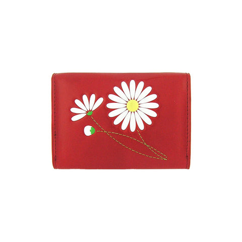 Online shopping for vegan brand LAVISHY's envelop style vegan cardholder with daisy flower emboss motif. Eco-friendly, ethically made, cruelty free. Stylish to use everyday also make great gift for friends & family. Wholesale at www.lavishy.com to gift shop, boutique & book store in USA, Canada & worldwide since 2001.