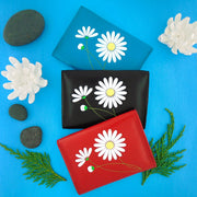Shop vegan brand LAVISHY's beautiful vegan cardholder with charming daisy flower emboss motif. It's Eco-friendly, ethically made, cruelty free. A great gift for you or your friends & family. Wholesale available at www.lavishy.com with many unique & fun fashion accessories.