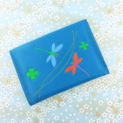 Shop vegan brand LAVISHY's beautiful vegan cardholder with charming dragonfly and clover emboss motif. It's Eco-friendly, ethically made, cruelty free. A great gift for you or your friends & family. Wholesale available at www.lavishy.com with many unique & fun fashion accessories.