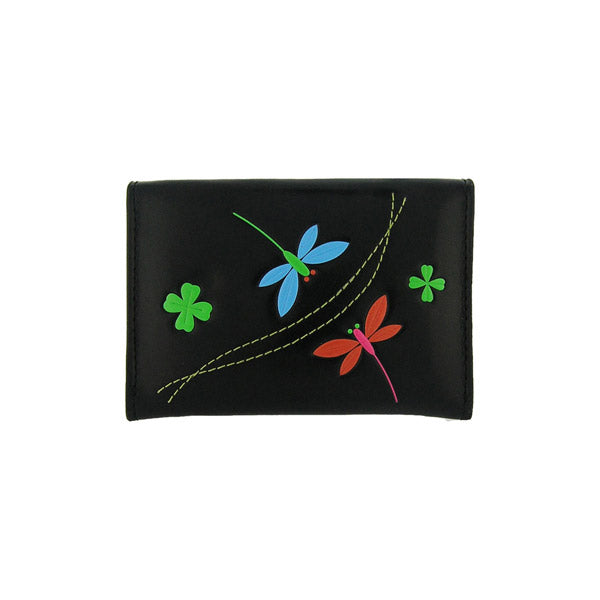 Online shopping for vegan brand LAVISHY's beautiful vegan cardholder with charming dragonfly and clover emboss motif. It's Eco-friendly, ethically made, cruelty free. A great gift for you or your friends & family. Wholesale at www.lavishy.com with many unique & fun fashion accessories.
