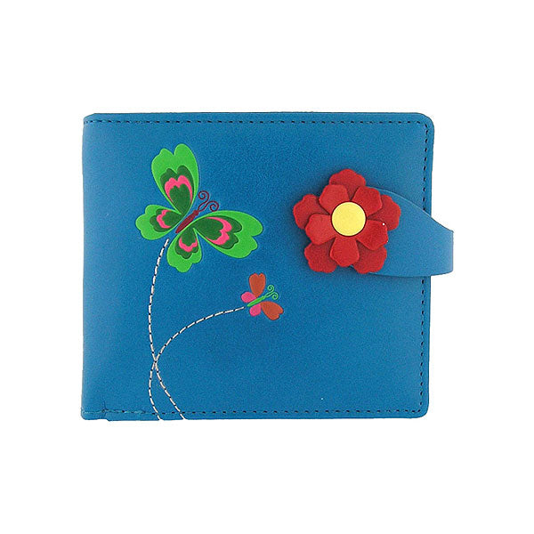 Shop PETA approved vegan brand LAVISHY's beautiful vegan medium wallet with charming Butterfly & flower emboss. It's Eco-friendly, ethically made, cruelty free. A great gift for you or your friends & family. Wholesale available at www.lavishy.com with many unique & fun fashion accessories.