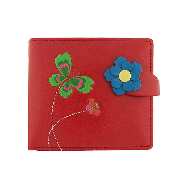 Online shopping for vegan brand LAVISHY's beautiful vegan medium wallet with charming Butterfly & flower emboss. It's Eco-friendly, ethically made, cruelty free. A great gift for you or your friends & family. Wholesale available at www.lavishy.com with many unique & fun fashion accessories.