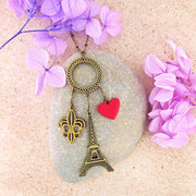 883-086: Paris charm long necklace