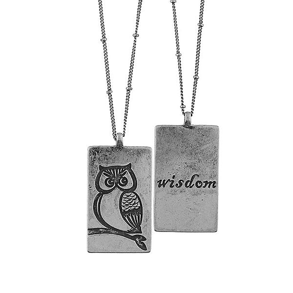 Online shopping for LAVISHY owl & wisdom vintage style reversible necklace. A great gift for you or your girlfriend, wife, co-worker, friend & family. Wholesale at www.lavishy.com with many unique & fun fashion accessories.