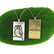 Shop LAVISHY owl & wisdom vintage style reversible necklace. A great gift for you or your girlfriend, wife, co-worker, friend & family. Wholesale available at www.lavishy.com with many unique & fun fashion accessories.