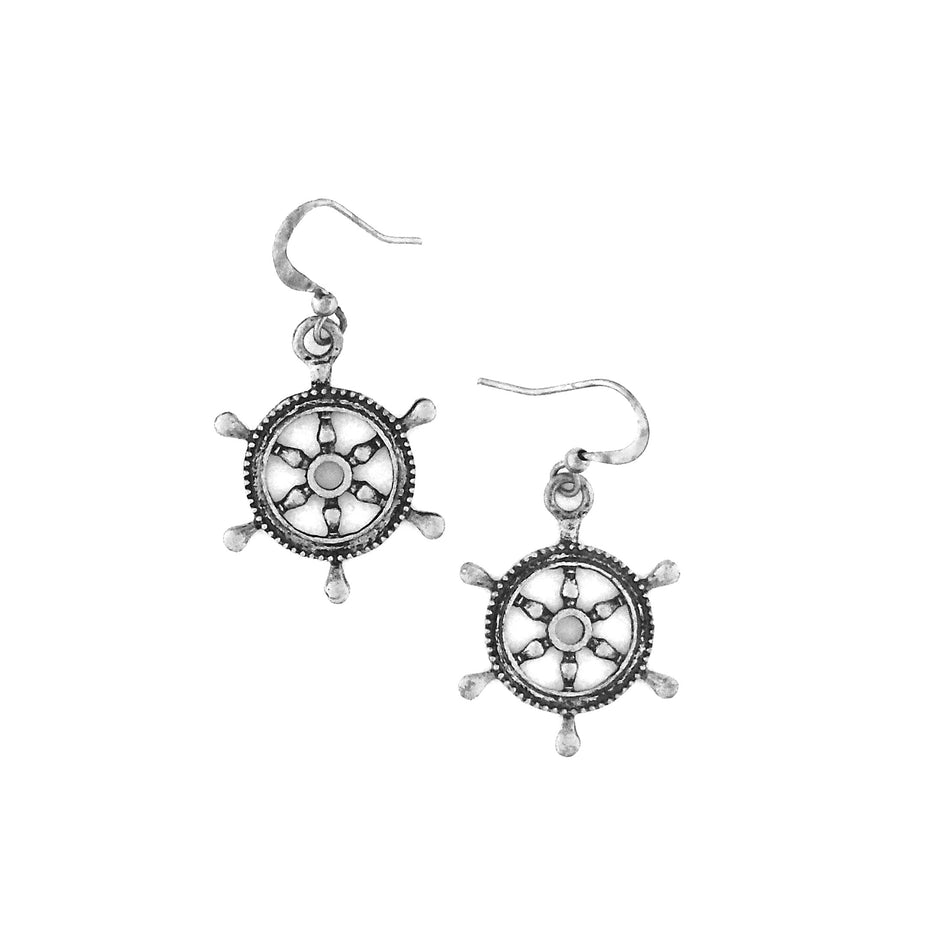 Shop PETA approved vegan brand LAVISHY's unique, beautiful, affordable & meaningful handmade vintage style ship wheel earrings. A thoughtful gift for you or your girlfriend, wife, co-worker, friend & family. Wholesale available at www.lavishy.com with many unique & fun fashion jewelry.