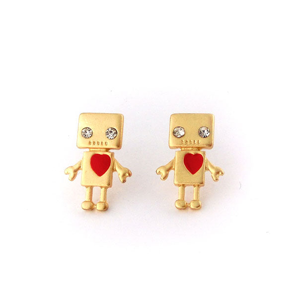 Online shopping for PETA approved vegan brand LAVISHY's unique, beautiful, affordable handmade robot earrings. A thoughtful gift for you or your girlfriend, wife, co-worker, friend & family. Wholesale at www.lavishy.com with many unique & fun fashion jewelry.