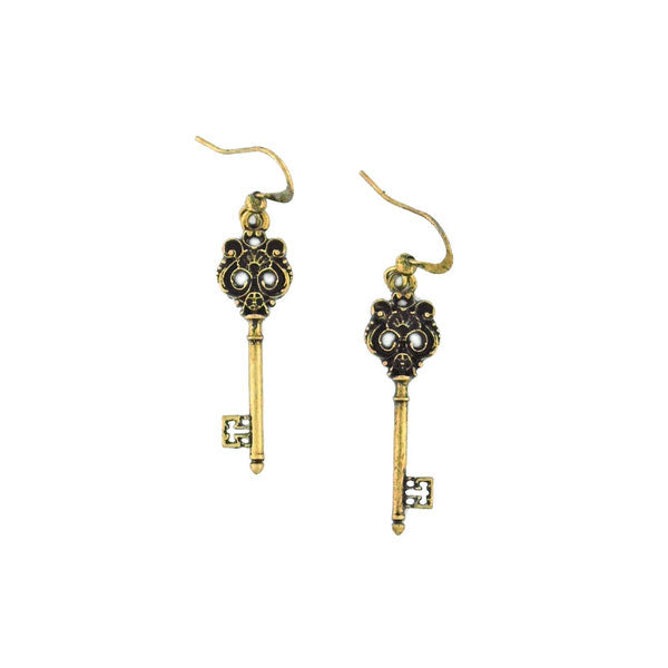 Online shopping for PETA approved vegan brand LAVISHY's unique, beautiful, affordable & meaningful handmade vintage style key earrings. A thoughtful gift for you or your girlfriend, wife, co-worker, friend & family. Wholesale at www.lavishy.com with many unique & fun fashion jewelry.