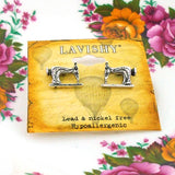 Online shopping for PETA approved vegan brand LAVISHY's unique, beautiful, affordable & meaningful handmade vintage style sewing machine earrings. A thoughtful gift for you or your girlfriend, wife, co-worker, friend & family. Wholesale at www.lavishy.com with many unique & fun fashion jewelry.