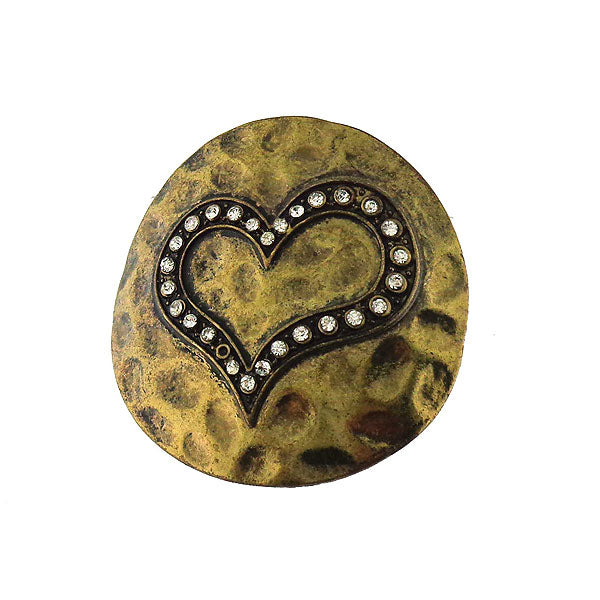 883-306: Funky giant heart adjustable ring