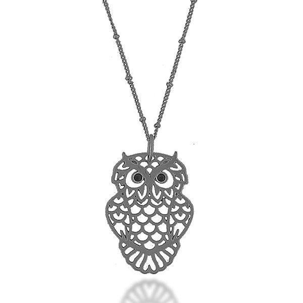 Shop LAVISHY's fun & affordable vintage style cutout owl pendant necklace. A great gift for you or your girlfriend, wife, co-worker, friend & family. Wholesale available at www.lavishy.com with many unique & fun fashion accessories.