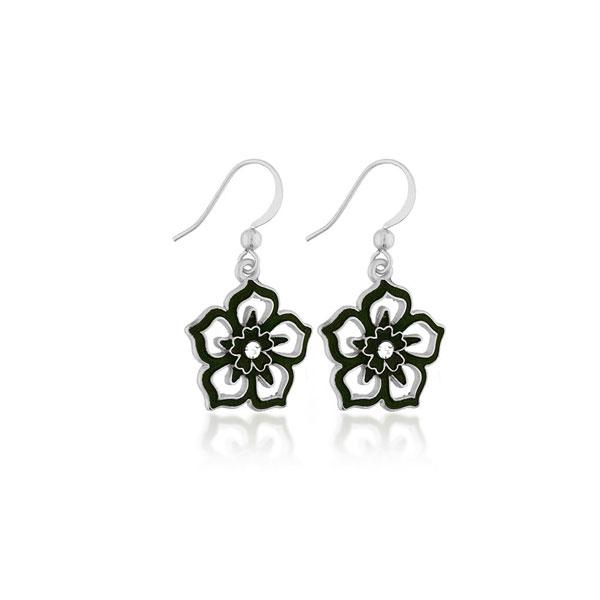 Shop PETA approved vegan brand LAVISHY's unique, beautiful, affordable handmade earrings feature flower pendants with enamel and rhinestone accent. A thoughtful gift for you or your girlfriend, wife, co-worker, friend & family. Wholesale available at www.lavishy.com with many unique & fun fashion jewelry.