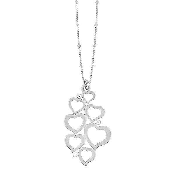 Online shopping for LAVISHY's fun & affordable cutout sweet heart pendant with rhinestone necklace. A great gift for you or your girlfriend, wife, co-worker, friend & family. Wholesale at www.lavishy.com with many unique & fun fashion accessories.