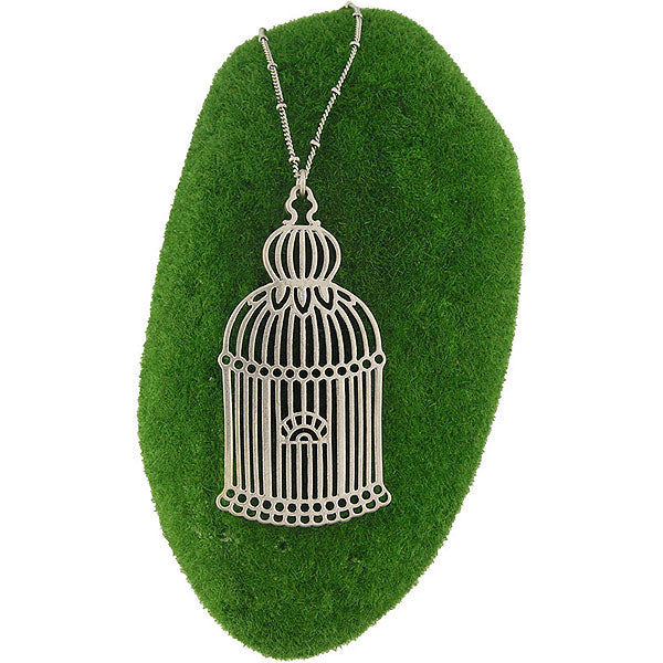 Shop LAVISHY's fun & affordable vintage style reversible vintage look Birdcage pendant long necklace. A great gift for you or your girlfriend, wife, co-worker, friend & family. Wholesale available at www.lavishy.com with many unique & fun fashion accessories.