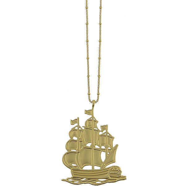Shop LAVISHY's fun & affordable vintage style reversible vintage look Sailing Ship pendant long necklace. A great gift for you or your girlfriend, wife, co-worker, friend & family. Wholesale available at www.lavishy.com with many unique & fun fashion accessories for gift shops & boutiques in Canada, USA & worldwide.