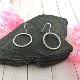 925-004: Handmade circle sterling silver earrings