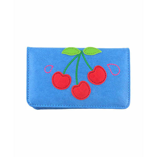 Shop PETA approved vegan brand LAVISHY's cherry applique vegan/faux leather cardholder. Wholesale available at http://www.lavishy.com/wholesale/lavishy-wholesale-applique-vegan-bags-wallet-and-accessories.htm