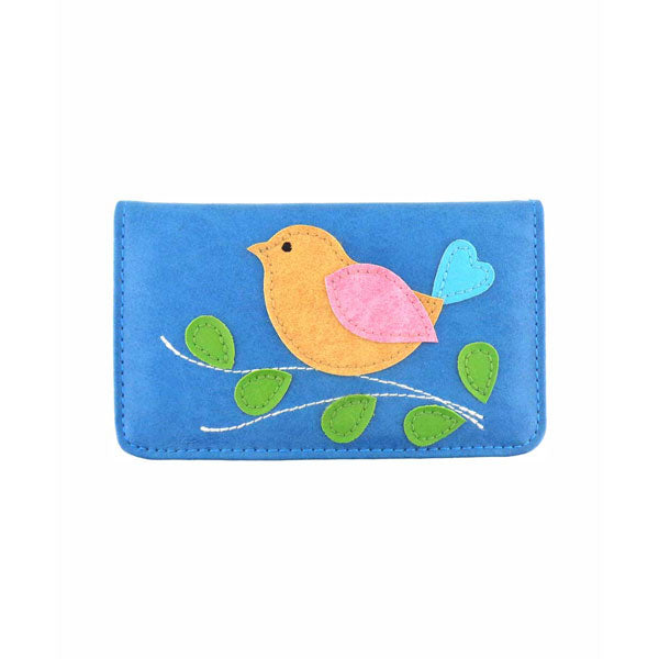 Shop PETA approved vegan brand LAVISHY's bird applique vegan/faux leather cardholder. Wholesale available at http://www.lavishy.com/lookbook/lavishy-adora-collection-look-book.htm