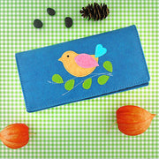 Online shopping for vegan brand LAVISHY's fun & Eco-friendly cruelty free colorful bird applique vegan large wallet. Great for everyday use, cool gift for family & friends. Wholesale at www.lavishy.com for gift shops, clothing & fashion accessories boutiques, book stores